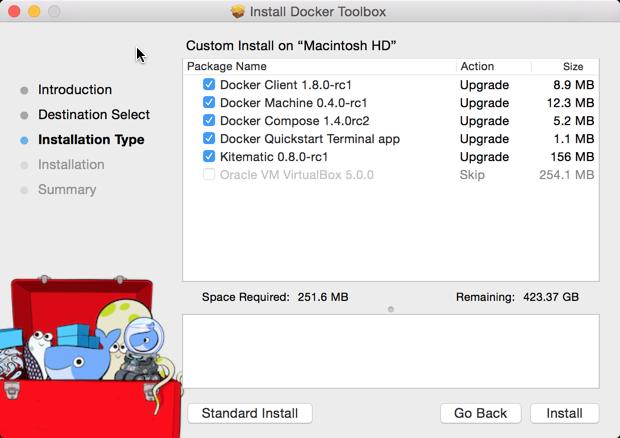 Install docker mac